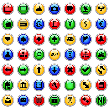 Collection of different icons for using in web design. Vector