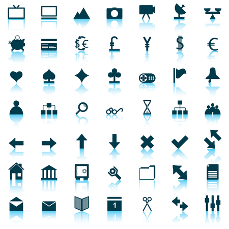 Collection of different icons for using in web design. Stock Vector - 5270637