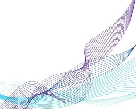 Fondo de vector abstracta de las líneas de agua para uso de diseño