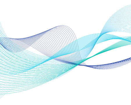Abstract water lines vector background for design use Vector