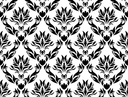 Damask seamless vector background.  For easy making seamless pattern just drag all group into swatches bar, and use it for filling any contours. Stock Vector - 5270700