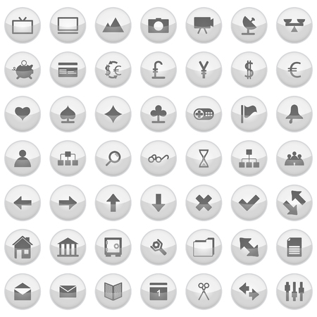 Collection of different icons for using in web design. Stock Vector - 5270704
