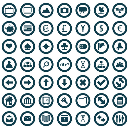 Collection of different icons for using in web design. Stock Vector - 5270696