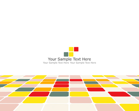 Vector illustration of abstract multicolor checked background Vector