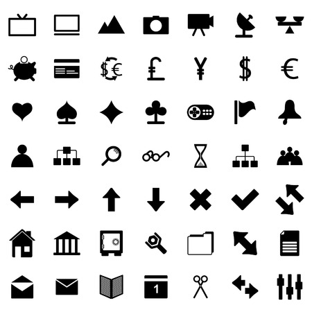 Collection of different icons for using in web design. Stock Vector - 5299564