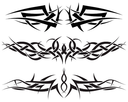 Patterns of tribal tattoo for design use Stock Vector - 5299547
