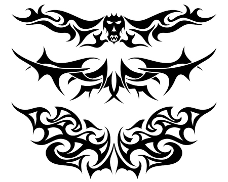 totenk�pfe: Muster der Stammes-T�towierung f�r Design verwenden