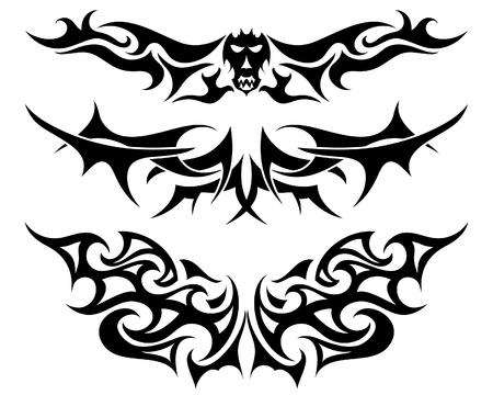 cr�nes: Utilisent des mod�les de tatouage tribal de conception