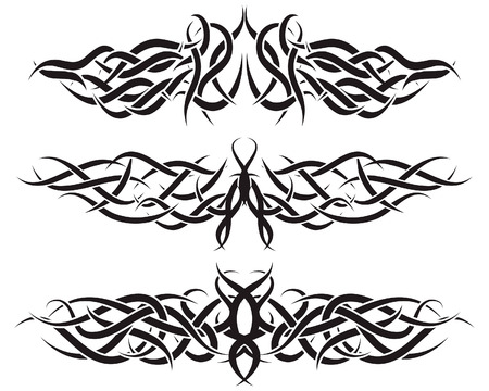 Patterns of tribal tattoo for design use Stock Vector - 5299566