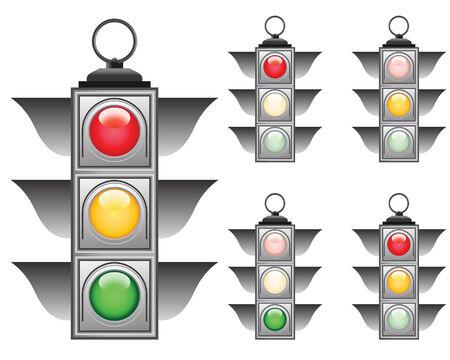 Ful signals set of vector traffic lights Stock Vector - 5299563