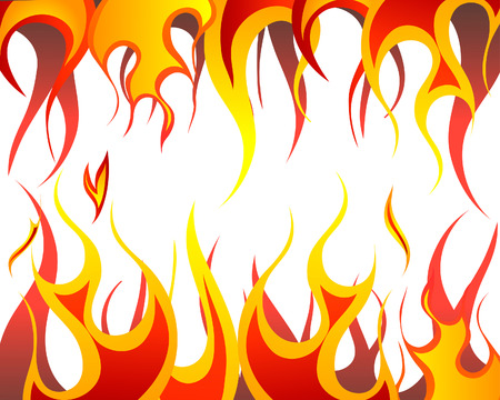 rod sign: Inferno fire vector background for design use Illustration