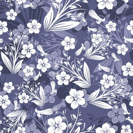 Nahtlose Vektor floralen Hintergrund. Ziehen Sie für leicht machen nahtlose Muster nur alle Gruppe in Farbfelder Bar, und verwenden Sie es für alle Konturen ausfüllen.