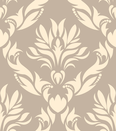 vector wallpaper: Damask seamless vector background.  For easy making seamless pattern just drag all group into swatches bar, and use it for filling any contours. Illustration