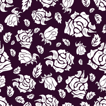 leafs: Seamless vector floral background. For easy making seamless pattern just drag all group into swatches bar, and use it for filling any contours. Illustration