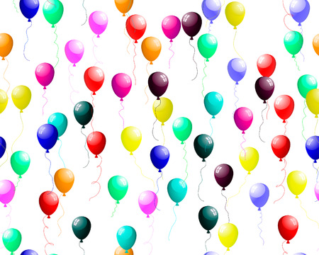seamless background of colour balloons in the air. Vector illustration. Vector