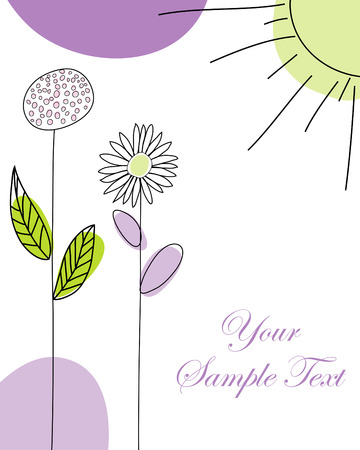 in use: Hand drawn infant card for design use Illustration