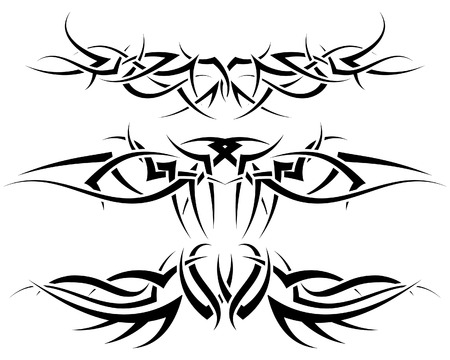 Patterns of tribal tattoo for design use Stock Vector - 5310449