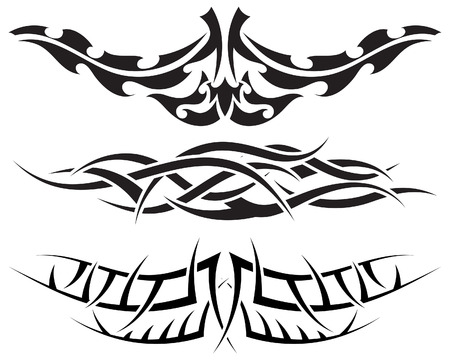 bird  celtic: Patterns of tribal tattoo for design use