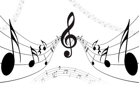 Vector musical notes staff background for design use Stock Vector - 5314486