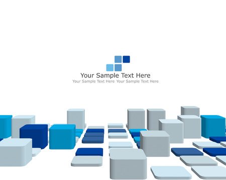 banner effect: Abstract 3d checked  business background for use in web design Illustration