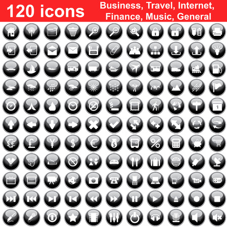 rubbish cart: Biggest collection of 120  different icons for using in web design