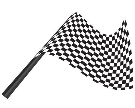 kontrolovány: Black and white checked racing flag. Vector illustration.  Ilustrace
