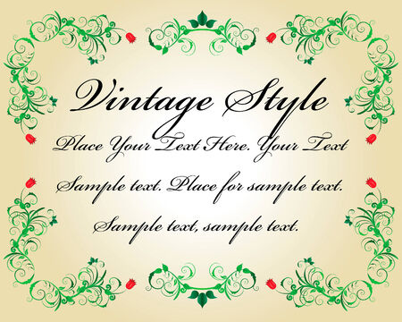 Abstract floral vector frame backgrounds  in Victorian style Stock Vector - 5341801