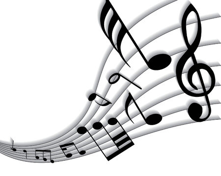 Vector musical notes staff background for design use Stock Vector - 5341793