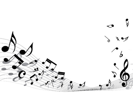 Vector musical notes staff background for design use Stock Vector - 5355477