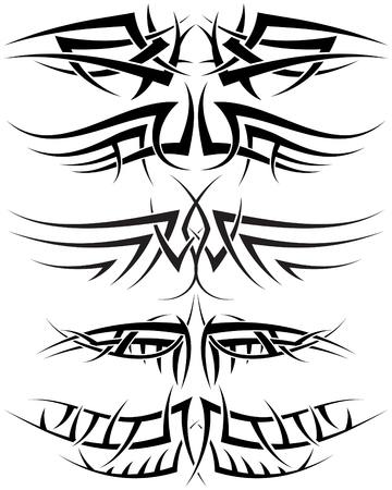 Patterns of tribal tattoo for design use Stock Vector - 5355484