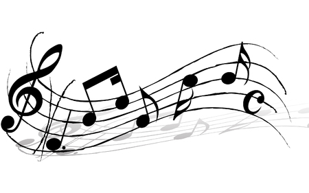 gclef: Vector musical notes staff background for design use Illustration