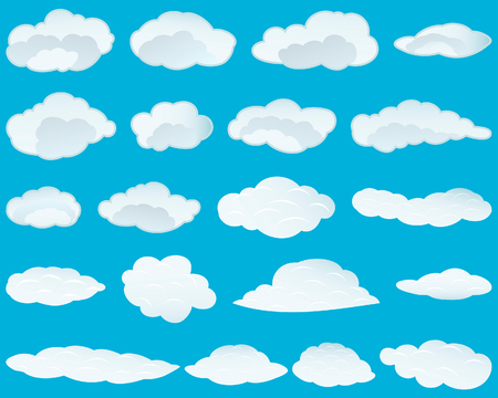 Set of vector clouds background for design use