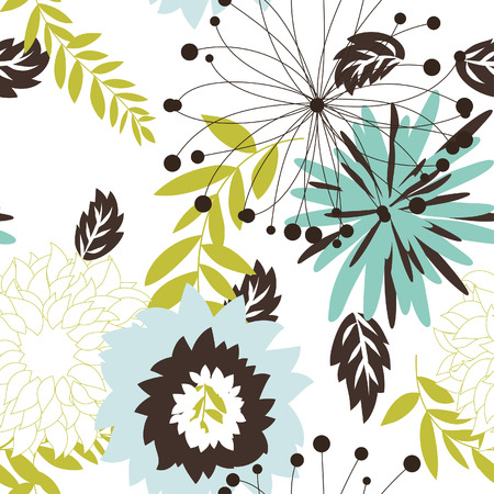 tribal pattern: Seamless vector floral background. For easy making seamless pattern just drag all group into swatches bar, and use it for filling any contours. Illustration