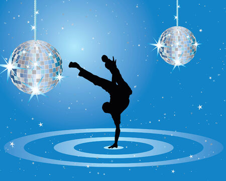 Nightclub dancer theme. Vector illustration for design use. Stock Vector - 5407305