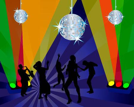 Nightclub dancer theme. Vector illustration for design use. Stock Vector - 5407307