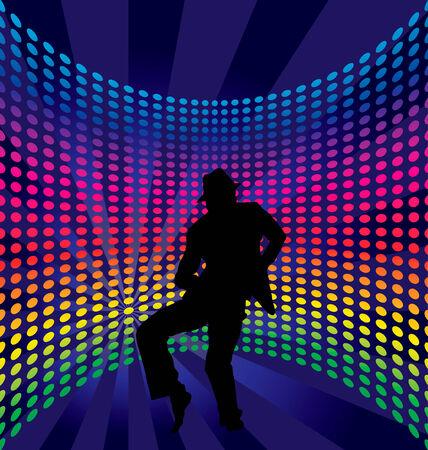 Nightclub dancer theme. Vector illustration for design use. Stock Vector - 5407306