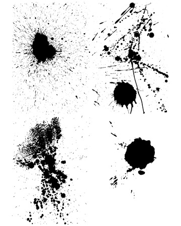 inkblots: Set of vector ink blots  for grunge design