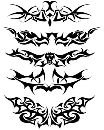 Patterns of tribal tattoo for design use Stock Vector - 5436584