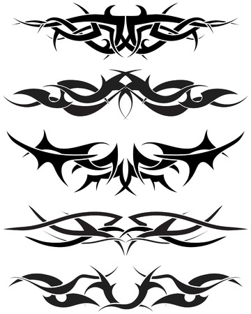 Patterns of tribal tattoo for design use Stock Vector - 5436585