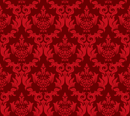 Damask seamless vector background.  For easy making seamless pattern just drag all group into swatches bar, and use it for filling any contours. Stock Vector - 5437047