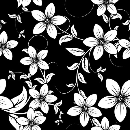 Seamless vector floral background. For easy making seamless pattern just drag all group into swatches bar, and use it for filling any contours. Stock Vector - 5467674