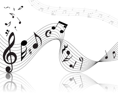 Vector musical notes staff background for design use Stock Vector - 5467670
