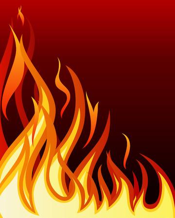 blazes: Inferno fire vector background for design use Illustration