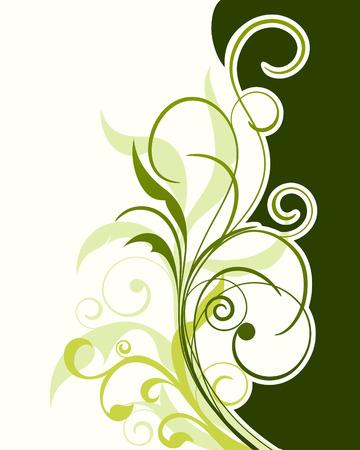 leaf curl: Floral background for design use. Vector illustration. Illustration