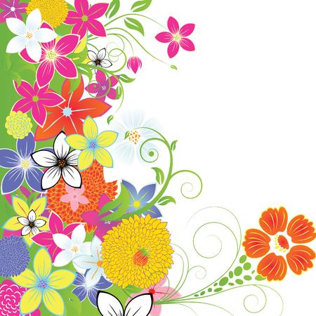Floral background para el uso del diseño. Ilustración del vector.