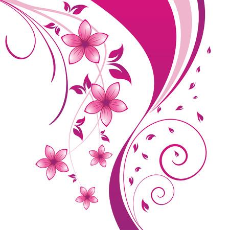 Floral background for design use. Vector illustration.