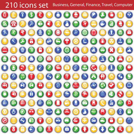 Biggest collection of different icons for using in web design Stock Vector - 5552908