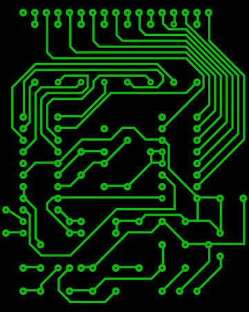 Electric scheme for design use. Vector illustration. Stock Vector - 5560042