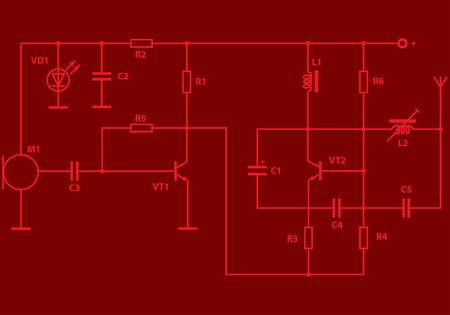 Electric scheme for design use. Vector illustration. Stock Vector - 5560040