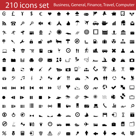 Colección más grande de los diferentes iconos para uso en diseño web Ilustración de vector